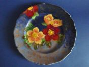 Large Royal Doulton 'Wild Rose' Egerton Rack Plate D6227 c1940